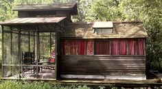 Small Houseboats | afollowingsea: Houseboat on the marshy edge of a river, Sticks and ...