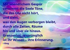 I Ging-Das Buch der Wandlung The Ear, Infinity, Spiritual, Poetry, Memories, Knowledge, Quotes