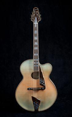 John Monteleone (American, b. 1947)  Archtop Guitar, Deco Vox