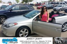 https://flic.kr/p/EVe3gj | Happy Anniversary to Melody on your #Toyota #Camry Solara from Ken Gilbert at Mazda of Mesquite! | deliverymaxx.com/DealerReviews.aspx?DealerCode=B979