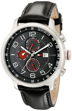 Amazon.com  Tommy Hilfiger Men s 1790859 Stainless Steel Watch with Leather  Band  Tommy Hilfiger  Watches e5f7357cd9a8