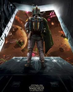 Star Wars Boba Fett is about to take action Awesome! Boba Fett Mandalorian, Jango Fett, Star Wars Boba Fett, Star Wars Poster, Star Wars Art, Chasseur De Primes, Star Wars Concept Art, Star Wars Images, The Force Is Strong