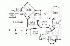 BL*****Luxury Style House Plans - 5336 Square Foot Home, 2 Story, 5 Bedroom and 3 3 Bath, 3 Garage Stalls by Monster House Plans - Plan 19-1365