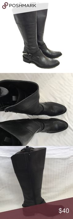 """Matisse black leather tall boots Matisse brand riding / equestrian style black leather boots. Size 6 1/2.  Approx 14"""" tall shaft. 14"""" circumference. 1 1/2"""" heel. Worn less than 10 times. Great shape. Matisse Shoes Heeled Boots"""