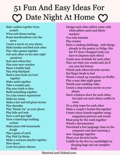 Get this fun free printable of date night questions for married couples from the marriage blog Married and Naked.