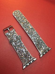 Apple Watch ~ Silver Glitter/Sparkle Multi Dimesional Bling Band 38mm / 42mm