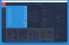 Sidebar navigation menu design on desktop version multi level menu design