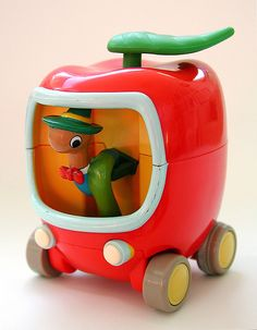 Lowly Worm's Apple Car by Tomy. Image by j_pidgeon #Toy #Car #Lowly_Worm