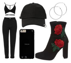 """Sin título #541"" by immoverthemoon on Polyvore featuring moda, StyleNanda, Melissa Odabash, Topshop, Steve Madden y Boohoo"