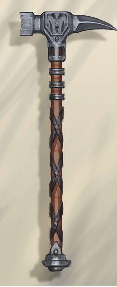 Steel War Hammer concept art from The Elder Scrolls V: Skyrim by Adam Adamowicz