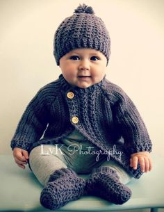 Simple Cable Baby Cardigan - Crochet Pattern $5.50