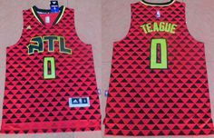 Men's Atlanta Hawks #0 Jeff Teague Revolution 30 Swingman 2015-16 New Red Jersey