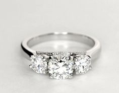 2Ct Round Diamond Engagement Ring Women Promise Band Real 14k Solid White Gold  #SolitairewithAccents