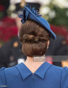 Catherine, Duchess of Cambridge, hair detail, attends the Official Welcome Ceremony for the Royal Tour at the British Columbia Legislature on September 24, 2016 in Victoria, Canada. (Photo by Samir Hussein/WireImage)