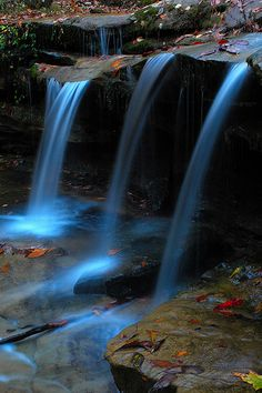 Seven Falls in North Alabama.  Seven Falls, Morgan County, Alabama.