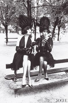 "Vogue, October 1991  Karl Lagerfeld's ""city ballerinas"" shot in Paris.  Photographed by Ellen von Unwerth"