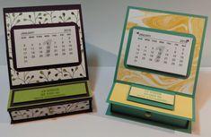 Anleitung: Mini-Kalender Easelcard Schubladen-Box mit stampin' up!
