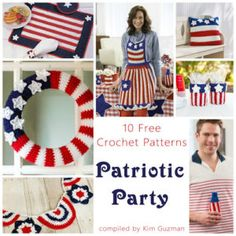 Monday Link Blast: 10 Free Crochet Patterns for a Patriotic Party