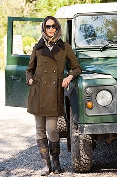 BARBOUR Can't wait to be in a climate where I can wear my Barbour again . . .