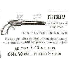 Pistolita para tirar tarjetas #1900 #argentina #buenosaires #ads #vintage
