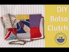 DIY bolso clutch fácil con retales - YouTube