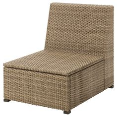IKEA - SOLLERÖN, One-seat section, outdoor, Hand-woven plastic rattan looks like natural rattan but is more durable for outdoor use.The materials in this outdoor