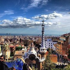 It's hard to beat the city views of Gaudí's enchanting Park Güell in #Barcelona.    Photo courtesy of pgsilver on Instagram