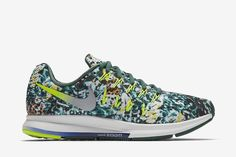 2414bbb42e6b Nike Air Zoom Pegasus 33 Brazil Rain Forest Print Women s Running Shoe   Loyal Blue Gorge Green Summit White Reflect Silver
