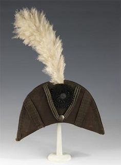 American Navy Bicorne 1776-1783 Wool, Silk, Metal, Paper, Feather and Wood.