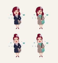 Cute Character Illustrations Stephanie hind