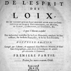 Un capolavoro della letteratura politica del XVIII secolo:  MONTESQUIEU, De l'esprit des loix - 1749 (rara seconda edizione)  [www.libriantichionline.com]