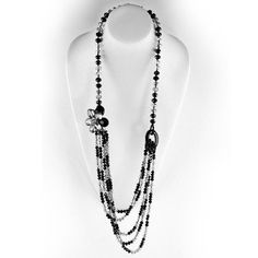 Black represents strength and confidence. Trust your intuition in this necklace.