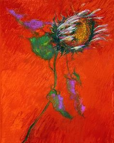 Jimmy Wright Sunflower on Crimson 2009
