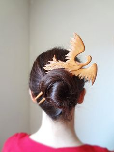 I love this for Nixie, when she has hair.  High fashion special order phoenix hair fork by theancientmuse, $110.00