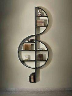 Hermosa biblioteca musical.