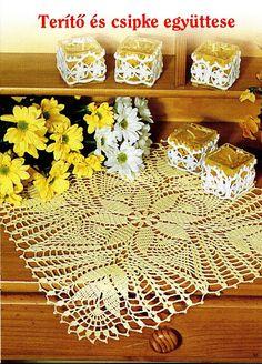 Kira esquema de crochet: quadrado