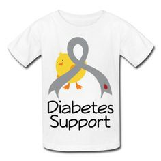 74c514587 Diabetes Dark T-Shirt. See more. Cute little chick with Diabetes Awareness  Ribbon for support. #diabetes #type1diabetes Diabetes Awareness