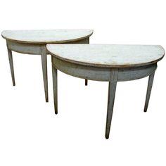 beautiful swedish demi lune tables / Velvet & Linen blog