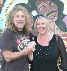 robert plant, April 2014 | Robert Plant and Karen Webber outside the Mother In Law Roadhouse in ...