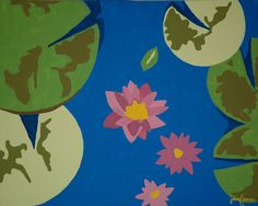 Lily Pads - All paintings are taught at Painting and Pinot - Baton Rouge
