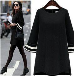 VESTIDO CLÁSICO  Vestido para oficina ideal y con un mega estilo para verte sensacional con los colores como el negro.  Vestido diseño clásico que nunca pasa de moda.  Fácil de llevar, Cómodo y Super bonito.