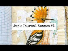 Junk Journal Snacks #1- Bitesized Inspiration For Your Journal! - YouTube