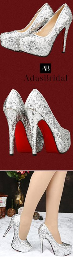 851a8f057ed In Stock Three Wearing Methods Sparkling Glitter Upper Closed Toe Stiletto  Heels Bridal Shoes Sapatos