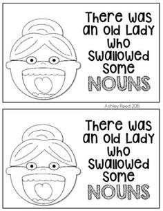 Nouns: There was an Old Lady Who Swallowed. by Ashley Reed Nouns First Grade, 2nd Grade Ela, First Grade Reading, English Language, Language Arts, Common And Proper Nouns, Possessive Nouns, Homework Ideas, Reading Street