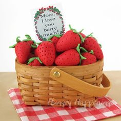 """Hungry Happenings: Gifts of Strawberries and Cream Berry Baskets for """"berry"""" special people."""