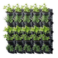 Garden Wall Planter, Vertical Garden Wall, Vertical Planter, Potted Garden, Vertical Gardens, Planter Pots, Concrete Bricks, Concrete Wall, Herb Garden