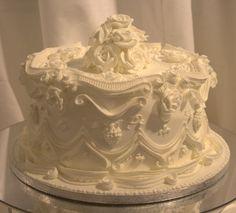 "Replica tier of  ""Victoria and Albert's"" wedding cake."