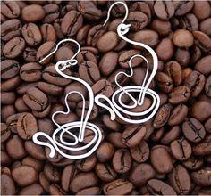 Přívěsek- I LOVE COFFEE - 3D-tepaný-hypoaergen / Zboží prodejce Charliee | Fler.cz