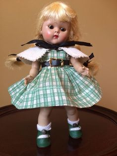 Vintage Vogue Strung Ginny Doll, 1952 Carol Kindergarten Series, CS Shoes! #DollswithClothingAccessories