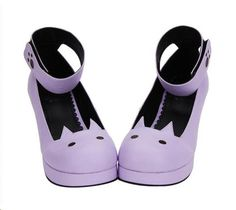 Cute pleather cat plafprm shoes by TonyMoly store online $57.99.
